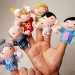 หุ่นนิ้วมือ ชุดครอบครัวสุขสันต์ Set 6 คน Nana Baby