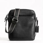 พร้อมส่ง กระเป๋าผู้ชาย COACH รุ่น HERITAGE WEB LEATHER FLIGHT BAG BLACK F70813