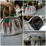 กระเป๋าถักเชือกร่ม