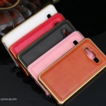 Luxury Leather Metal Aluminum Bumper Frame For Samsung Galaxy A7