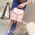 [ พร้อมส่ง ] - กระเป๋าแฟชั่น สไตล์เกาหลี สีชมพูพาสเทล สามารถทำเป็นเป้น่ารักๆได้ ดีไซน์สวยเก๋ไม่ซ้ำใคร มีสายสะพายยาว