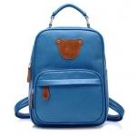 กระเป๋าเป้แฟชั่น beibaobao สีฟ้า แต่งรูปหมี สะพายหลัง มีช่องใส่เยอะ งานสวย น่ารักมากค่ะ So Cute