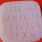 แม่พิมพ์ซิลิโคนแผ่นตัวอักษร sweet Thin ขนาด 2cm. * 1cm. แผ่นใส ฟู๊ดเกรด