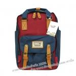 [ พร้อมส่ง ] - กระเป๋าเป้ Doughnut Macaroon Hong Kong canvas backpack #NAVY X WINE