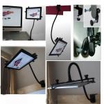 """360º Adjustable Aluminum Desk Gooseneck Mount Holder Stand for 7""""-10"""" Tablet :ipad 2 3 4 Air..."""