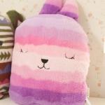 หมอนผ้าห่ม Craftholic สีชมพู-ม่วง (ฟรีEMS)