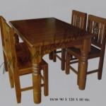 รหัส Maisak00199 ชุดโต๊ะกินข้าวไม้สัก 90X120X80 ซม. เก้าอี้ กว้าง 37 ซม. ยาว 37 ซม. สูง 95 ซม. โต๊ะกลาง กว้าง 90 ซม. ยาว 120 ซม. สูง 80 ซม.