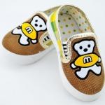 รองเท้าหุ้มส้นเด็กลายหมี size 18 20 21