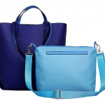 [ พร้อมส่ง Hi-End ] - กระเป๋าแฟชั่น นำเข้าสไตล์เกาหลี Tote bag Set 2 ชิ้น สีน้ำเงิน-ฟ้าสุดจิ๊ด ทรงสูงถือได้ สะพายไหล่ได้ ดีไซน์แบรนด์ดังแบบยุโรป งานหนังคุณภาพ แบบสวยเรียบหรู ดูไฮโซสุดๆน่าใช้ คุ้มค่ามากๆค่ะ