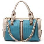 กระเป๋าแฟชั่นเกาหลี สีฟ้า หนังPu หนานิ่ม ประดับ Crytal ถือได้ สะพายได้ 3 แบบ ดีไซน์สวย งานงามค่ะ