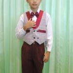 ชุดออกงานเด็กชาย เสื้อกั๊ก+เชิ๊ต+หูกระต่าย+กางเกงขายาว (มีหลายขนาด)