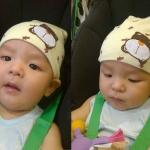 หมวกเด็กอ่อนเกาหลี รูปหมี สำหรับเด็กวัย 3 - 12 เดือน
