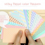 Milky Pastel Color Pattern สติ๊กเกอร์ตกแต่ง 20 แผ่น