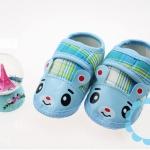 รองเท้าเด็กอ่อน รูปหมี สีฟ้า
