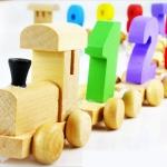 ของเล่นไม้ รถไฟลาก สอนนับเลข เสริมพัฒนาการ