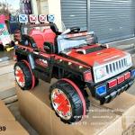 HD6689 รถจิ๊ปตำรวจ สีแดง/ดำ 1มอเตอร์/แบต12V