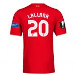 เสื้อลิเวอร์พูลยูฟ่ายูโรป้าลีกรอบรองชนะเลิศ ลิเวอร์พูล vs บียาร์เรอัลของแท้ LALLANA 20 ฟรีอาร์ม Respect