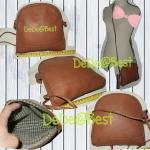 ขายแล้วค่ะ B13:2nd hand leather bag กระเป๋าหนังแท้สะพายข้าง&#x2764