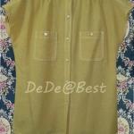 ขายแล้วค่ะ T42:Vintage top เสื้อวินเทจแขนสั้นสีเหลืองมัสตาส&#x2764