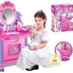 ชุดโต๊ะเครื่องแป้งเจ้าหญิงสีชมพู