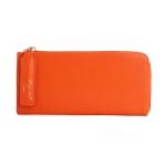 [ พร้อมส่ง ] - กระเป๋าสตางค์แฟชั่น สีส้มสุดจิ๊ด ซิปรอบปิดตัว L ใบยาว ดีไซน์สวยคลาสสิค ช่องเยอะ งานสวย น่าใช้มากๆค่ะ