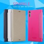 เคส มือถือ Sony Xperia XZ รุ่น Sparkle Leather case NILLKIN แท้ !!