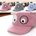 หมวกแก็ปเด็กอ่อน ปักรูปหน้าสัตว์ มีหูตั้ง น่ารัก ขนาด 6-18 เดือน