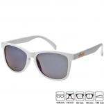แว่นกันแดด Glassy Sunhaters รุ่น : Deric White Light Blue Mirror