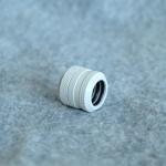 Fitting ท่ออคริลิค14mm สีขาว แหวน4ชั้น