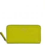 กระเป๋าสตางค์ kate spade mott street lacey สี celedon