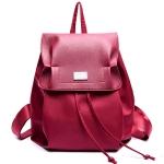 [ พร้อมส่ง ] - กระเป๋าเป้แฟชั่น สไตล์เกาหลี สีแดงเข้ม สุดชิค ใบใหญ่แต่น้ำหนักเบา พกพาง่าย ดีไซน์สวยเก๋ไม่ซ้ำใคร เหมาะกับสาว ๆ