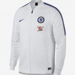 เสื้อแจ็คเก็ตเชลซี Dry Squad สีขาวของแท้