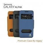 เคส Samsun Galaxy Alpha G850 รุ่น 2 ช่อง รูดรับสาย Premuim Case By Happy