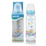 ขวดนม BPA-free พิมพ์ลาย Natur 8 oz. สีฟ้า