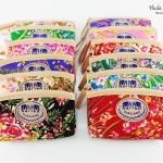 ของที่ระลึกราคาถูก กระเป๋าใส่เศษสตางค์ทรงสี่เหลี่ยมผืนผ้า (1แพ็ค 12 ชิ้นคละสี) ลายดอกไม้คละสี