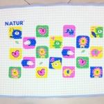 แผ่นยางธรรมชาติรองนอนเด็ก Natur รุ่นมีปุ่มอัดอากาศ ขนาด 45 x 60 cm