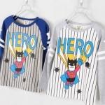 เสื้อยืดแขนยาว CI&SI ลาย HERO **เทา**