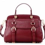 ***พร้อมส่ง - กระเป๋าแฟชั่น Axixi สีไวน์แดง ใบใหญ่ คาดเข็มขัดคู่หน้า ดีไซน์สวยเก๋ๆ ช่องใส่ของเยอะ เหมาะกับสาว ๆ ที่ชอบกระเป๋าคุณภาพ งานเนี้ยบสวยมากค่ะ