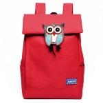 [ พร้อมส่ง ] - กระเป๋าเป้แฟชั่น นำเข้าสไตล์เกาหลี สีแดงเข้ม แต่งนกฮูกด้านหน้าเก๋ๆ ดีไซน์สวยเก๋ไม่ซ้ำใคร เหมาะกับสาว ๆ ที่ชอบกระเป๋าเป้ น้ำหนักเบา ใบใหญ่ค่ะ