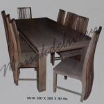 รหัส Maisak00195 ชุดโต๊ะกินข้าวไม้สัก แบบเรียบ 100X200X80 ซม. พื้นโต๊ะหนา    กว้าง 37 ซม. ยาว 37 ซม. สูง 95 ซม. โต๊ะกลาง กว้าง 100 ซม. ยาว 200 ซม. สูง 80 ซม.