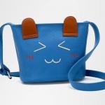 กระเป๋า beibaobao สีฟ้า รูปแมว ใบเล็ก สีพาสเทลสุดฮิต สายสะพายปรับได้ สวยหวานสไตล์ Girly