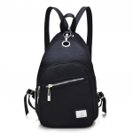 [ พร้อมส่ง ] - กระเป๋าเป้แฟชั่น สีดำ ดีไซน์เก๋ๆ ปรับใช้ได้ 2 สไตล์ ช่องใส่ของเยอะ น้ำหนักเบา เหมาะสำหรับพกพา ที่ต้องการความคล่องตัว