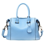 [ พร้อมส่ง ] - กระเป๋าแฟชั่น สไตล์เกาหลี สีฟ้าพาสเทล ทรงหมอนใบกลางๆ ดีไซน์แบรนด์ดังแบบยุโรป แบบสวยเรียบหรู สาวๆห้ามพลาด