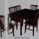 รหัส Maisak00197 ชุดโต๊ะกินข้าวไม้สัก 90X150X80 ซม.  เก้าอี้ กว้าง 37 ซม. ยาว 37 ซม. สูง 95 ซม. โต๊ะกลาง กว้าง 90 ซม. ยาว 150 ซม. สูง 80 ซม.