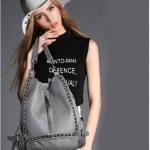 [ พร้อมส่ง Hi-End ] - กระเป๋าเป้แฟชั่น นำเข้าสไตล์เกาหลี สีเทาคลาสสิค สุดเท่ ดีไซน์สวยเก๋ไม่ซ้ำใคร สวยสุดมั่น เหมาะกับสาว ๆ ที่ชอบกระเป๋าเป้ใบกลาง งานเนี้ยบสวยมากค่ะ