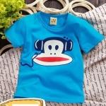 เสื้อยืดคอกลมสีฟ้าลายลิงพอลแฟรงค์