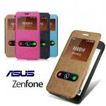 """เคส Asus Zenfone 4 A450CG 4.5"""" รุ่น 2 ช่อง รูดรับสาย"""