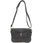 [ พร้อมส่ง ] - กระเป๋าแฟชั่น สะพายไหล่ สีดำ แต่งโบว์ด้านหน้า ไซส์มินิ ขนาดกระทัดรัด ดีไซน์สวยโดดเด่นไม่ซ้ำใคร