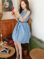 (Pre-order)Skirt Dress แขนกุด