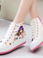 รองเท้าผ้าใบเพ้นลายน่ารักๆ